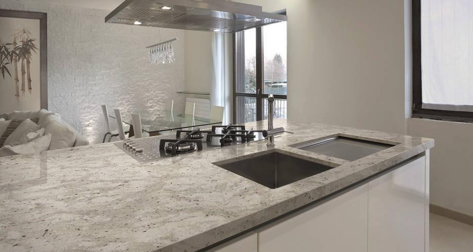 Trabajo granito andromeda 2 m rmoles da silva - Cocinas con encimera de granito ...